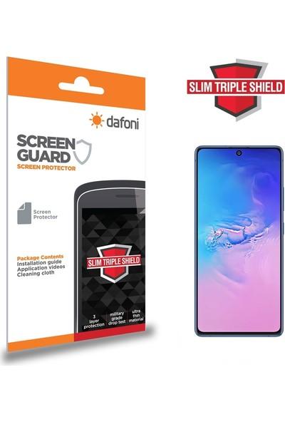 Dafoni Samsung Galaxy S10 Lite Slim Triple Shield Ekran Koruyucu Şeffaf