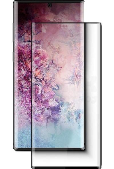 Eiroo Samsung Galaxy Note 10 Plus Curve Nano Glass Cam Ekran Koruyucu Siyah