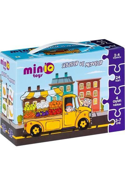 MinİQ Toys Sebzeler ve Meyveler Puzzle Oyunu (32 Parça)