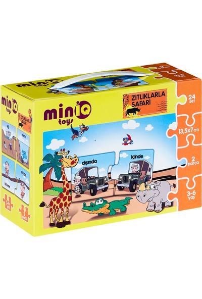 MinİQ Toys Zıtlıklarla Safari Yapboz (48 Parça)
