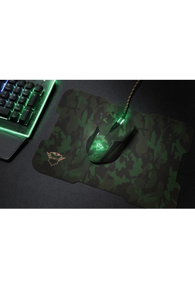 Trust GXT 781 Rixa Camo Oyuncu Mouse + Mouse Pad
