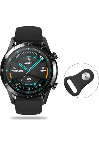 Huawei Watch Gt 2 46MM Kordon Silikon Kayış Siyah