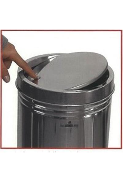 Arı Metal 1320 Döner Kapaklı 5 lt Paslanmaz Çöp Kovası