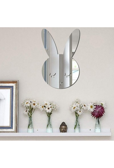 Dez Çocuk Odası Dekoratif Ayna Tavşan