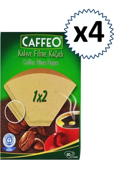 Caffeo Kahve Filtre Kağıdı 1x2 80'li 4 Paket 320'li