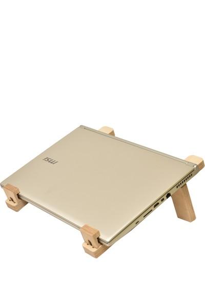 Tufetto Mahi-Mahi Ayarlanabilir Ahşap Laptop ve Kitap Standı