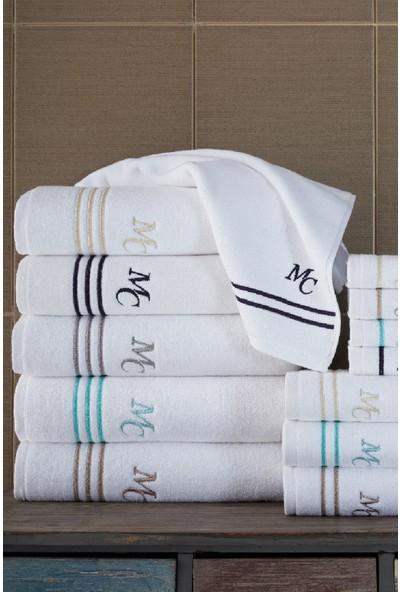 Marie Claire 2 Li Havlu Set-Baptıste 40 x 70 Cm 2Lı Set Beyaz / Bej 100% Pamuk