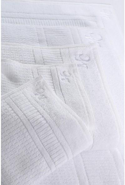 Marie Claire Otel Serisi-Havlu Vienne 100% Pamuk 90 x 150 Cm Tekli Beyaz