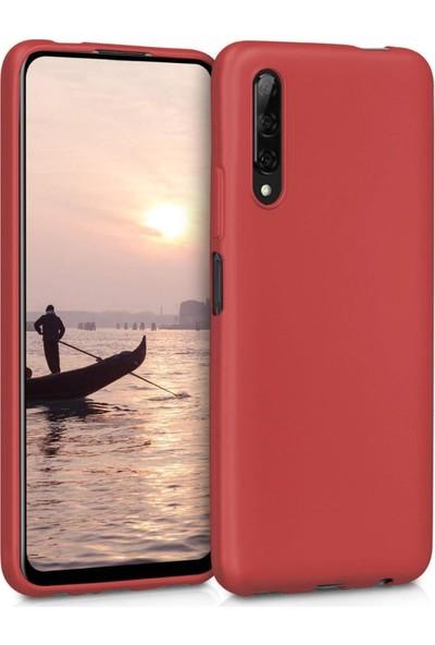 Kılıfist Huawei P Smart Pro 219 Kılıf Zore Premier Mat Silikon Kırmızı