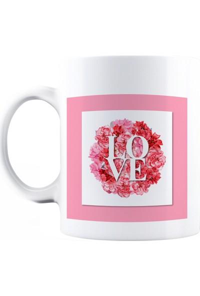 Baskımburada Beyaz Kupa Kişiye Özel Love BBKB000107