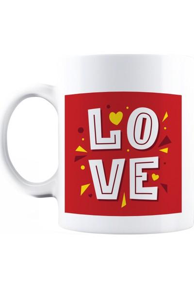 Baskımburada Beyaz Kupa Kişiye Özel Love BBKB000105