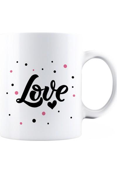 Baskımburada Beyaz Kupa Kişiye Özel Love BBKB000104