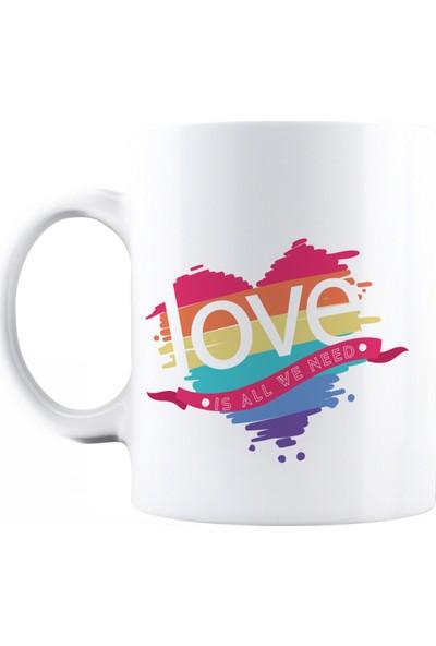 Baskımburada Beyaz Kupa Kişiye Özel Love BBKB000111