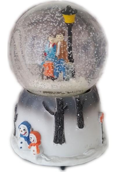 1001 Hediye Kış Masalı Işık Altı Sevgili Kar Küresi Müzikli Kurmalı