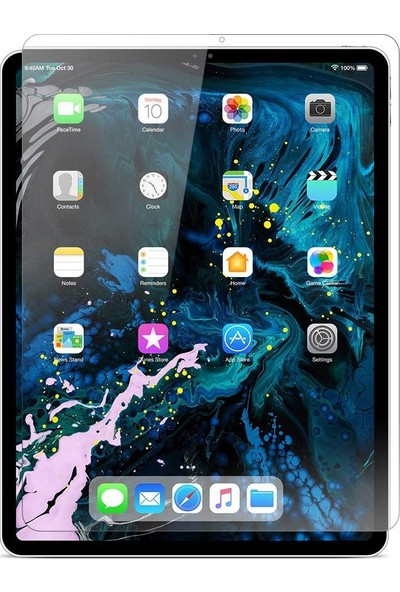 "Eiroo Apple iPad Pro 12.9"" 2018 Tempered Glass Tablet Cam Ekran Koruyucu"