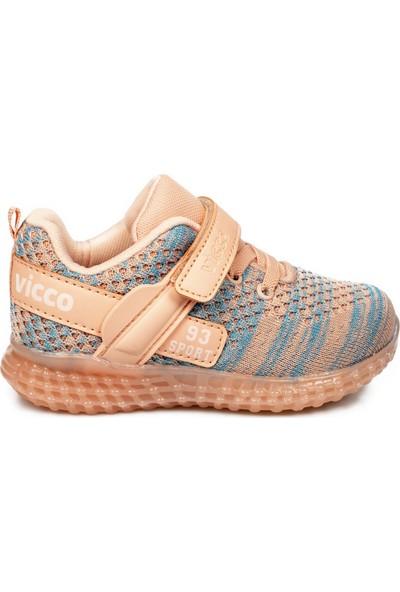 Vicco 313.b20Y.104 Bebe Işıklı Pudra Çocuk Spor Ayakkabı