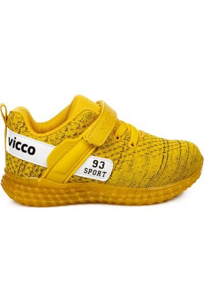 Vicco 313.p20Y.104 Patik Işıklı Sarı Çocuk Spor Ayakkabı