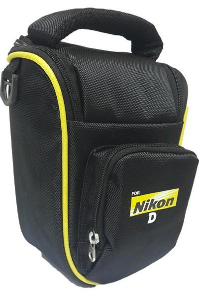No Name Nikon DSLR Fotoğraf Makinesi Üçgen Çanta