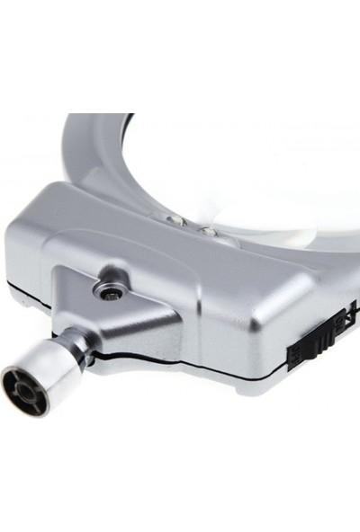 Sky Go Mandallı Metal Hortumlu Masa Üstü Büyüteç - 2.5X90 mm 5X24 mm