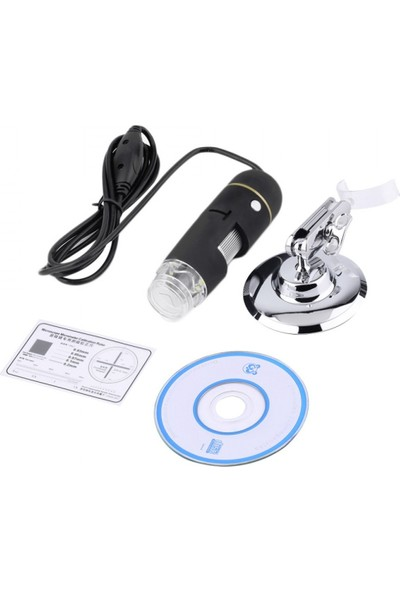 Sky Go 500X 8 LED Dijital, Endoskop Kamera Mikroskop