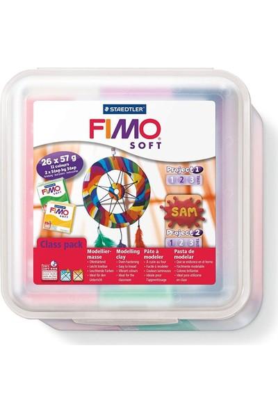 Staedtler Fimo Soft Polimer Kil Sınıf Seti + Aksesuarlar 26 Renk 57 Gr.