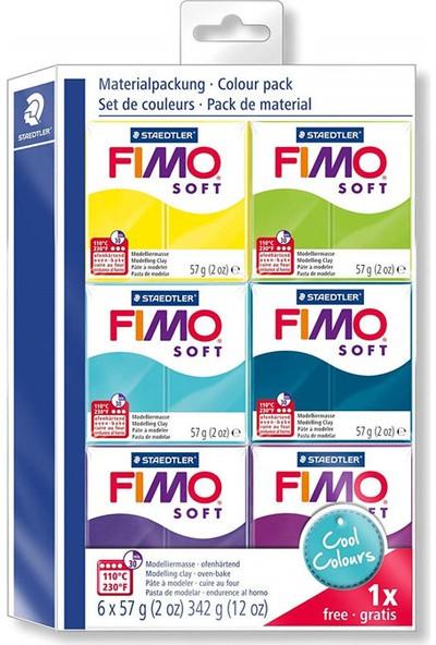 Staedtler Fimo Soft Polimer Cool Colours Kil Seti 6 Renk 57 Gr.