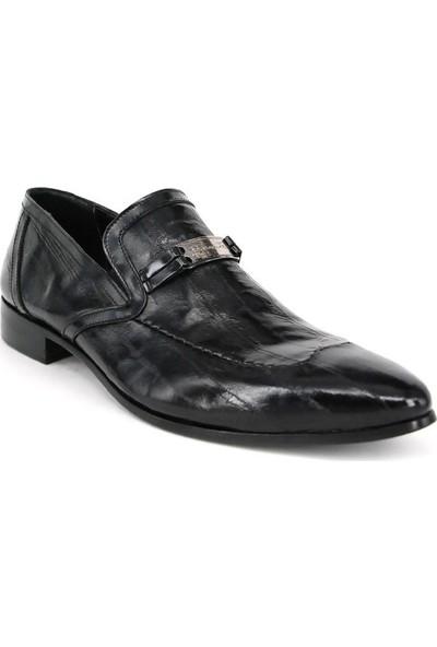 Shoemol 9922 - Siyah Vero Cuoio Erkek Ayakkabı
