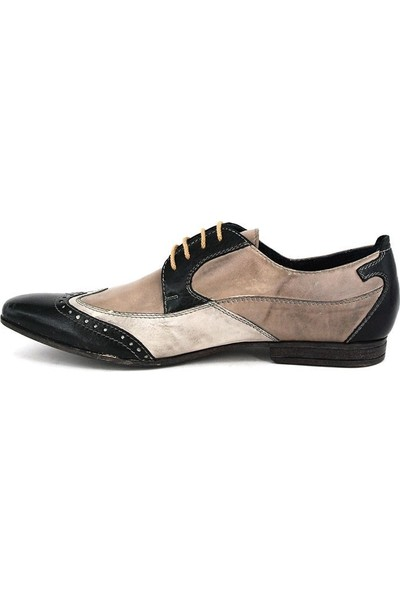 Shoemol 9928 - Koyu Gri Fatto a mano Erkek Ayakkabı