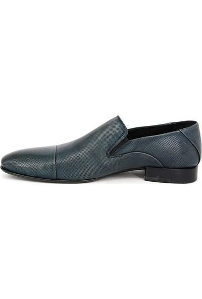 Shoemol 9938 - Mavi Vero Cuoio Erkek Ayakkabı