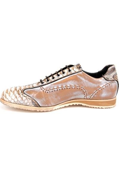 Shoemol 9962 - Beyaz Krem Harris Erkek Ayakkabı