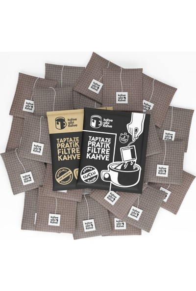 Kahvegibikahve 30'lu 2 Paket Güçlü 1 Paket Klasik Pratik Filtre Kahve