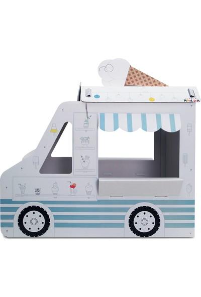 Little Maker Dondurma Arabası - Ice Cream Car Boyanabilir Oyun Maketi