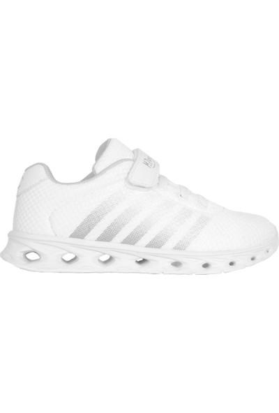 Mp 201-3049FT Beyaz Cırtlı Yazlık Erkek - Kız Çocuk Spor Ayakkabı 32