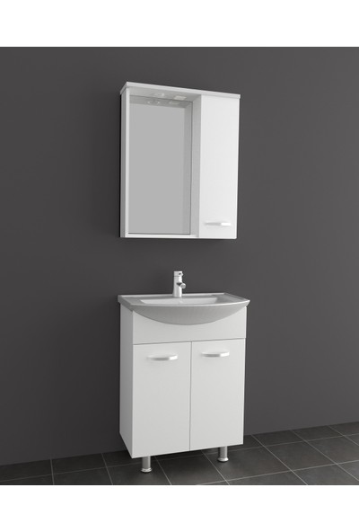 Brat Mobilya Banyo Dolabı Beyaz 55 cm