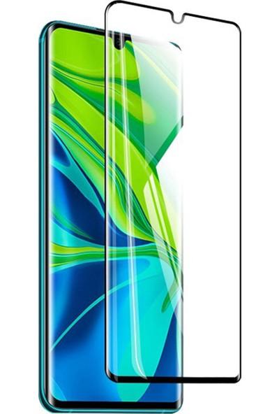 Microcase Xiaomi Mi Note 10 - Mi Note 10 Pro 3D Kavisli Tam Kaplayan Polymer Nano Ekran Koruma - Siyah