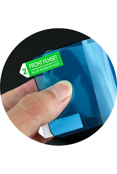 Microcase Huawei Mate 20 Pro 3D Kavisli Tam Kaplayan Polymer Nano Ekran Koruma - Siyah