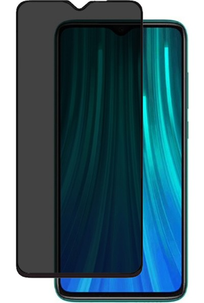 Microcase Xiaomi Redmi Note 8 Pro Privacy Gizlilik Filtreli Tam Kaplayan Tempered Cam - Siyah