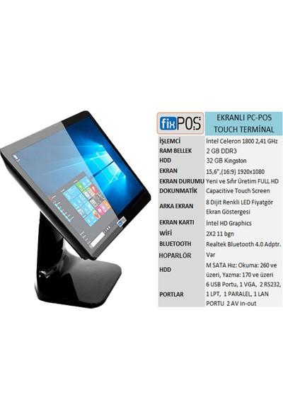 FixPOS Dokunmatik Ekranlı PC-POS Terminali J1800 2GB+32GB