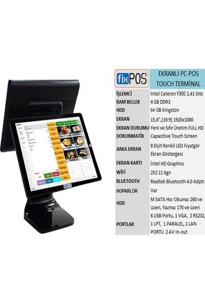 Fixpos J1900 Dokunmatik Ekranlı Pc-Pos Cihazı