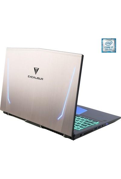 "Casper Excalibur G750.8750-B610X Intel Core i7 8750H 16GB 1TB + 512GB SSD GTX1070 Freedos 15.6"" UHD Taşınabilir Bilgisayar"