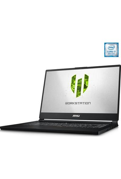 """MSI WS65 9TM-1012TR Intel Corei7 9750H 32GB 512GB SSD RTX5000 Windows 10 Pro 15.6"""" UHD Taşınabilir Bilgisayar"""