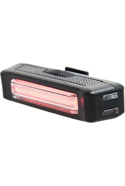 Jing Yi Bisiklet Işığı LED Stop Arka Ikaz Işık Lamba USB Şarjlı 100 Lümen
