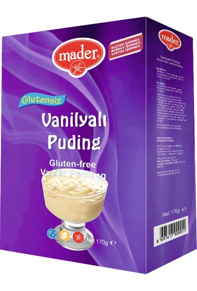Mader Glutensiz Vanilyalı Puding 170 gr
