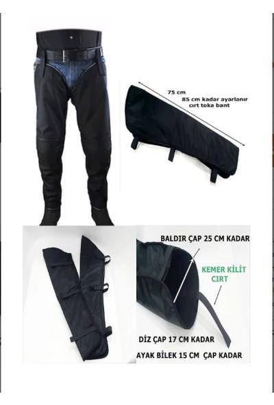 Newoto Motosiklet Kış Rüzgar Koruyucu Dizlik Askılı Pantolon