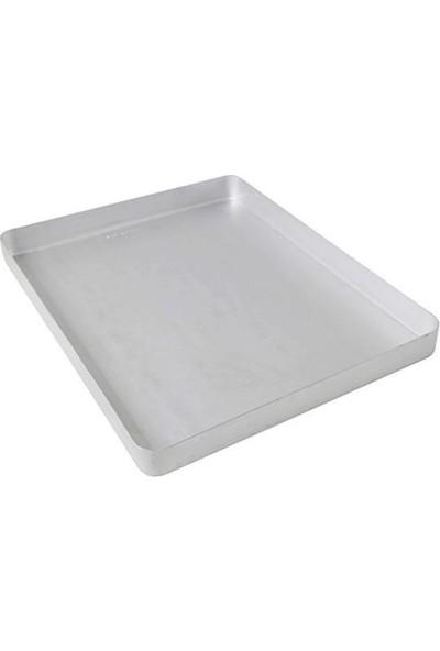Bakır Sanatı Alüminyum 35 x 45 x 4 cm 850 gr Baklava Börek Tepsisi