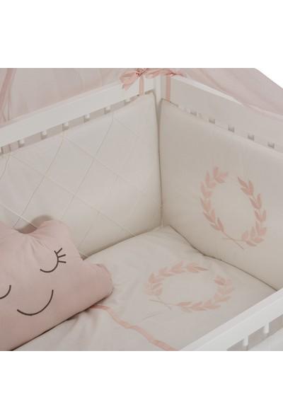 Meltem Smart Motto Nakışlı Pudra Bebek Uyku Seti - 60x120 cm