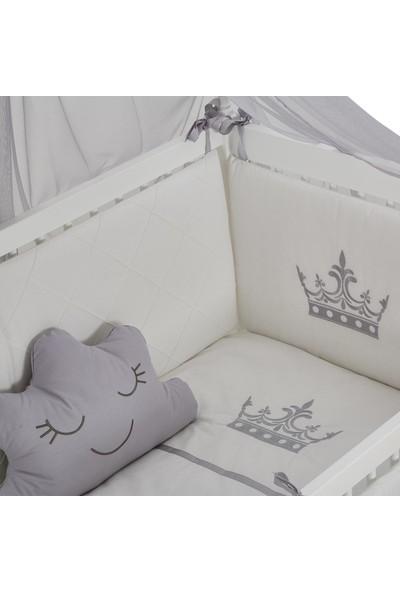 Meltem Smart Motto Nakışlı Gri Bebek Uyku Seti - 60x120 cm