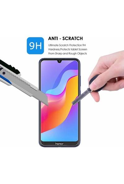 Case 4U Honor 8S - Huawei Y5 2019 Cam Ekran Koruyucu Temperli Şeffaf