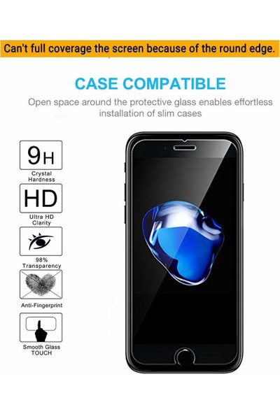 Case 4U Alcatel 3X 2019 Cam Ekran Koruyucu Temperli Şeffaf
