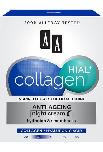 Aa Collagen Hıal+ Kolajen Nem + Yaşlanma Karşıtı Gece Kremi